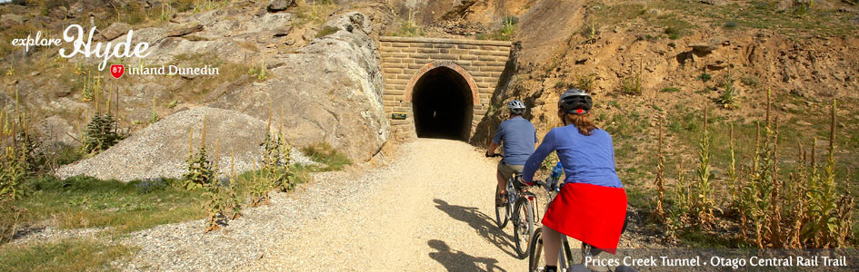 Prices Creek Tunnel on Otago Central Rail Trail